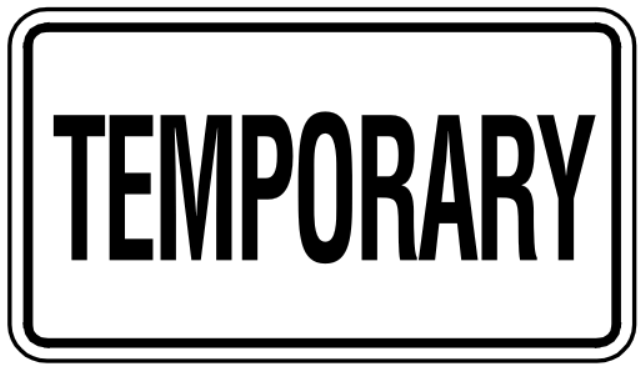 Obtain a temporary tag for the purchase of the car