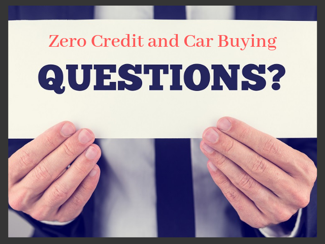 Learn How to buy a Car When Your Credit Score is Zero