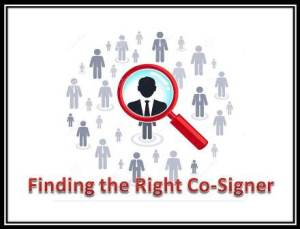 Finding The Right Cosigner